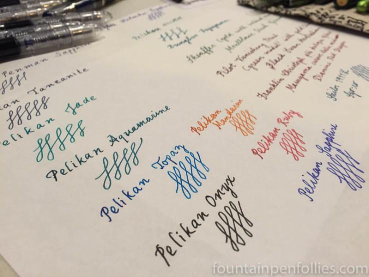 Pelikan Edelstein inks at Pelikan Hub 2016