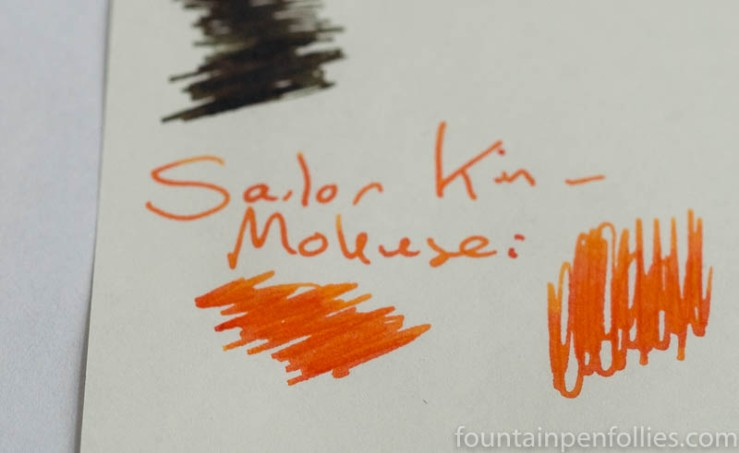 Sailor Kin-Mokusei writing sample