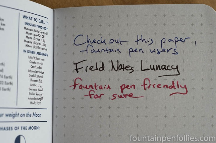 Field Notes Lunacy paper
