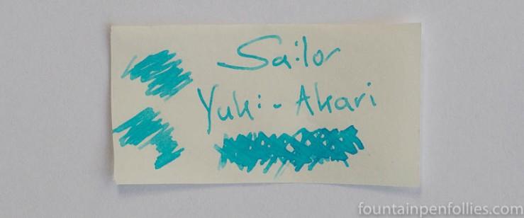 Sailor Jentle Four Seasons Yuki-Akari writing sample