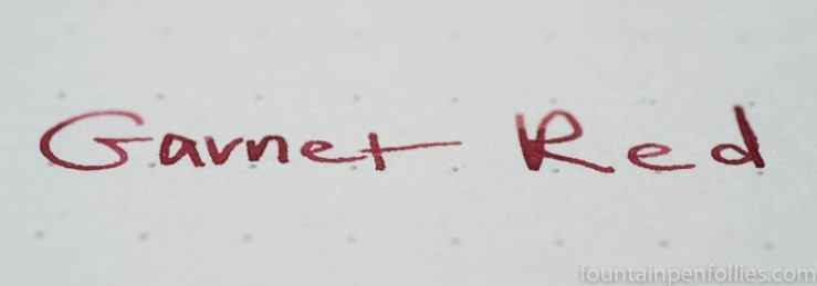 Graf von Faber-Castell Garnet Red writing sample