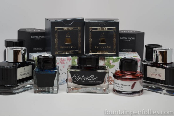 fountain pen ink bottles