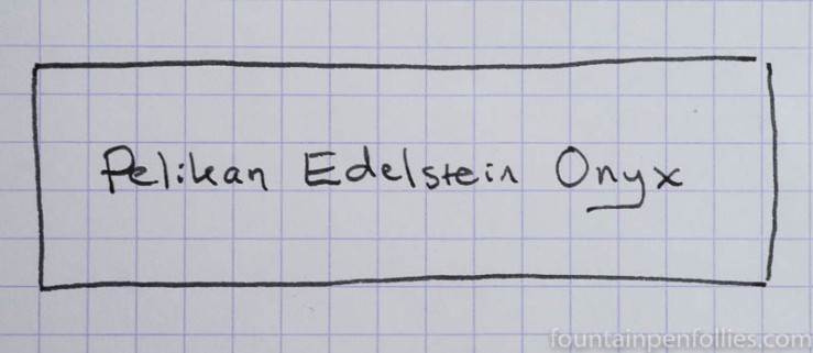 Pelikan Edelstein Onyx writing sample