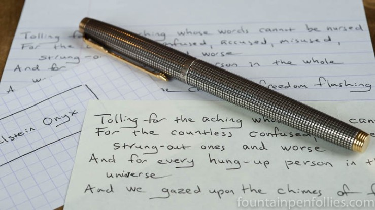 Pelikan Edelstein Onyx and Parker 75 Silver