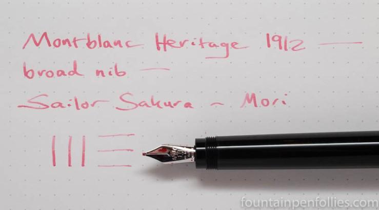 Montblanc Heritage 1912 with Sailor Sakura-Mori