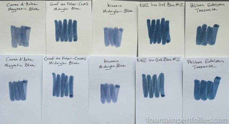 Graf von Faber-Castell Midnight Blue swab comparisons