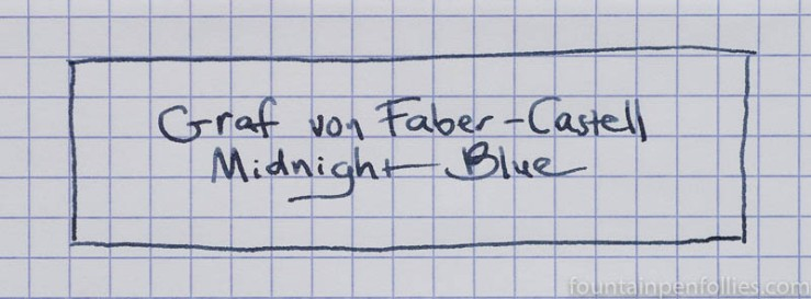 Graf von Faber-Castell Midnight Blue writing sample
