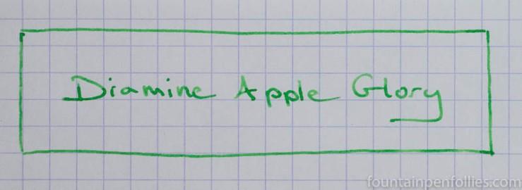 Diamine Apple Glory writing sample