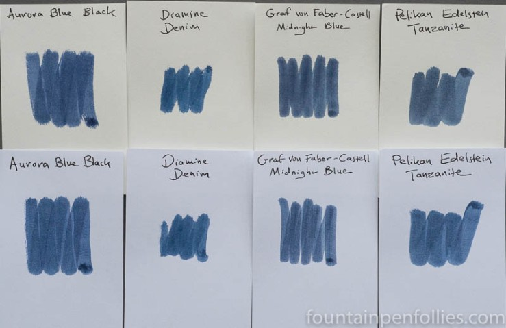 Aurora Blue Black swab comparisons