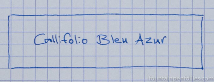 Callifolio Bleu Azur writing sample