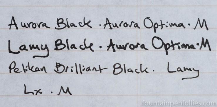 Lamy Black ink comparisons