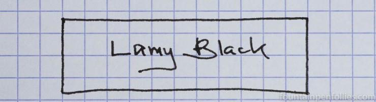 Lamy Black ink writing sample
