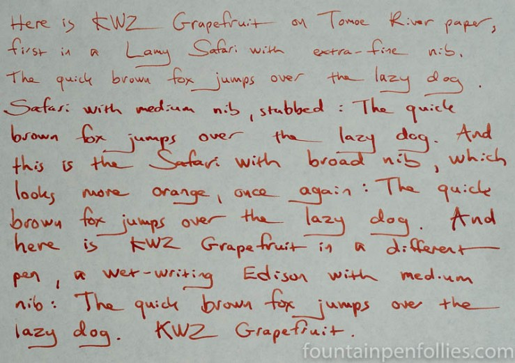 KWZ Grapefruit writing sample