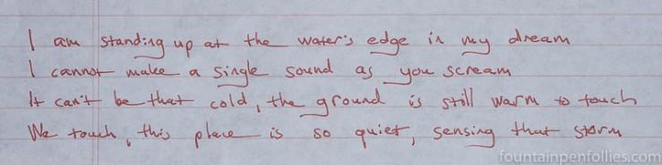 De Atramentis Document Red writing sample