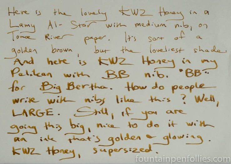 KWZ Honey writing sample