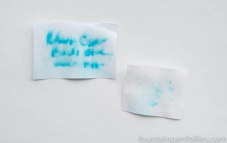 Robert Oster Bondi Blue water resistance