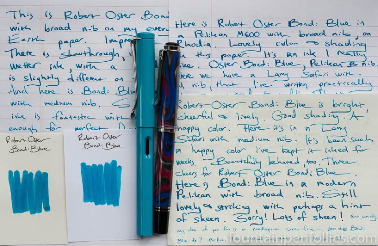Robert Oster Bondi Blue writing sample