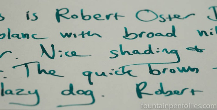 Robert Oster Deep Sea writing sample