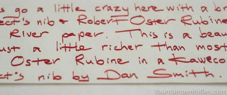 Robert Oster Rubine writing sample