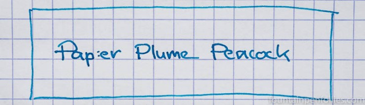 Papier Plume Peacock writing sample