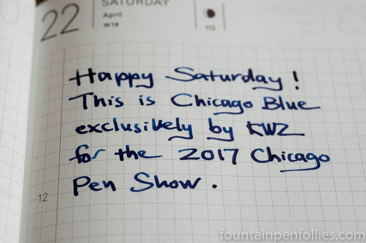 KWZ Chicago Blue writing sample