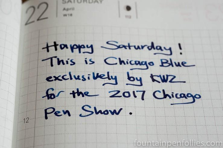 KWZ Chicago Blue writing sample