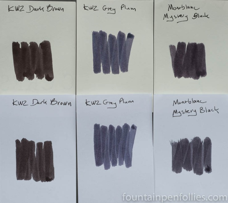 KWZ Grey Plum swabs comparison