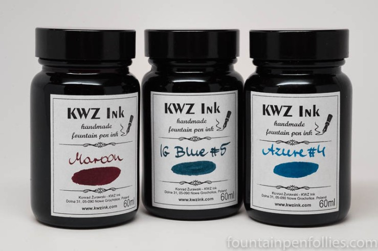 KWZ ink bottles