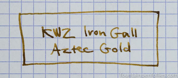 KWZ Iron Gall Aztec Gold writing sample