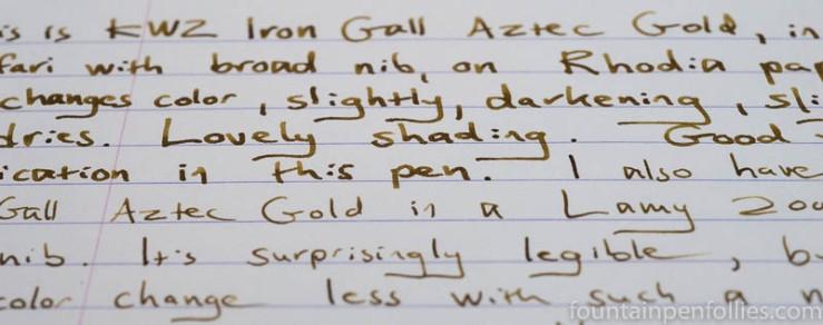 KWZ Iron Gall Aztec Gold