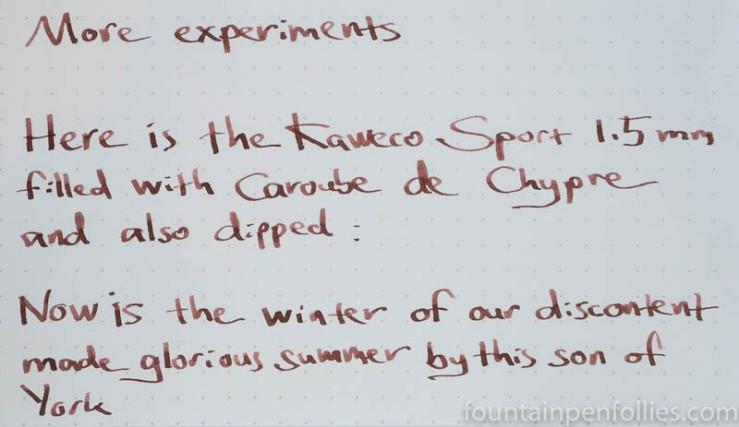 J. Herbin Caroube de Chypre writing sample