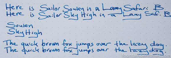 Sailor Souten and Sailor Sky High writing sample comparisons