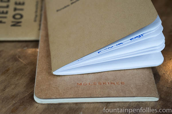 Field Notes and Moleskine pocket notebooks