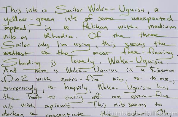 Sailor Waka-Uguisu writing sample