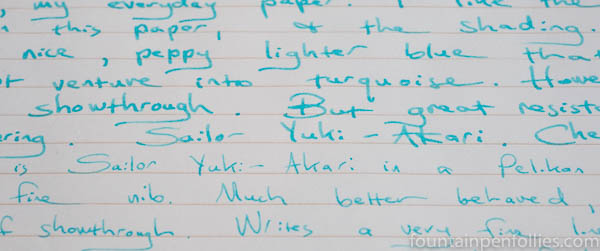 Sailor Yuki-Akari writing sample