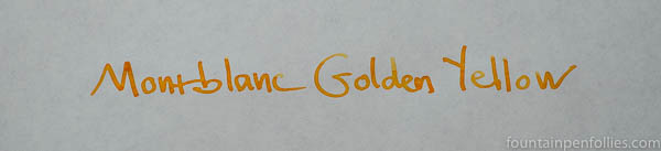 Montblanc Golden Yellow ink writing sample
