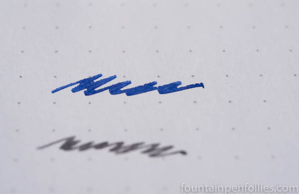 Diamine Blue Flame writing sample