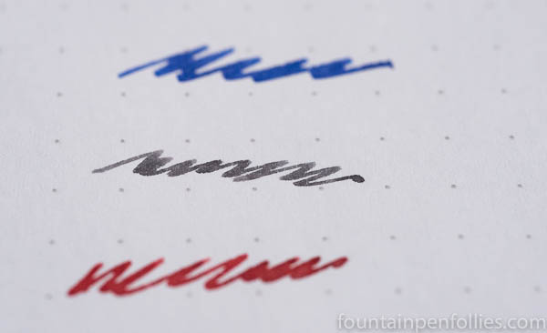 Diamine Moon Dust writing sample