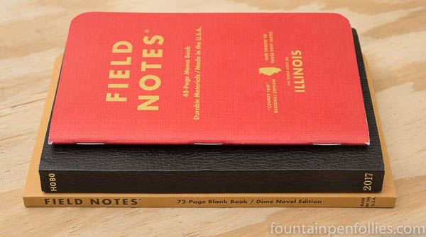 Field Notes Dime Novel size comparison
