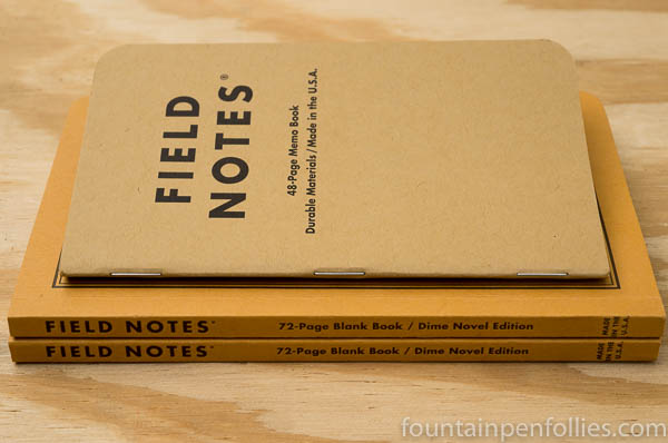 Field Notes Dime Novel comparison