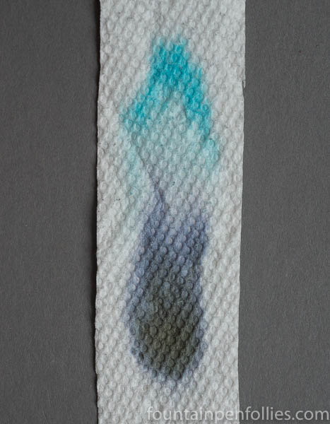 Papier Plume Bayou Nightfall paper towel chromatography