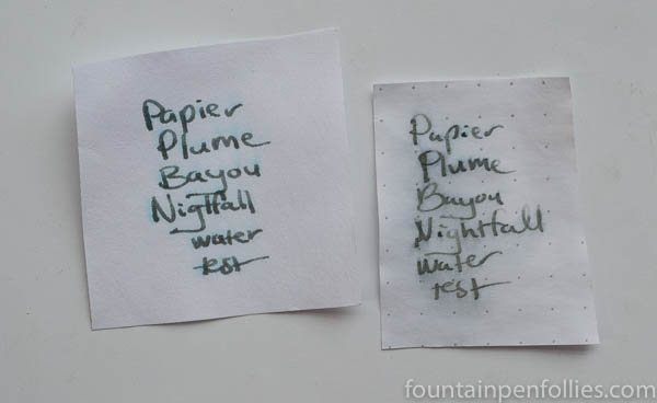 Papier Plume Bayou Nightfall water resistance