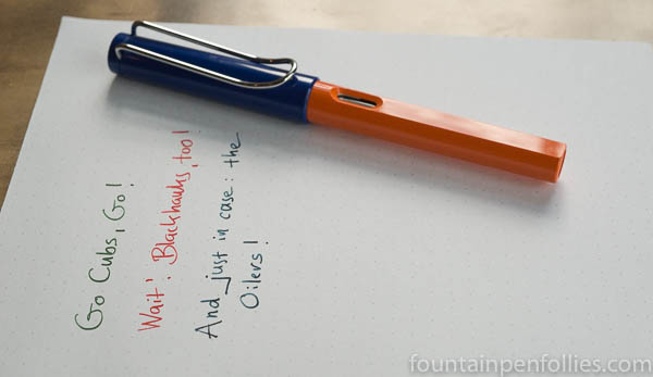 Sports Lamy Safaris Edmonton Oilers colors
