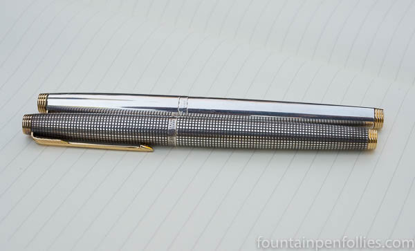 Parker 75 Sterling Silver Plain and Cisele
