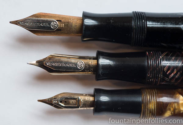 Wahl-Eversharp Doric adjustable nibs various sizes
