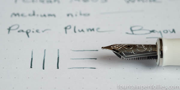 Pelikan M605 White Transparent with Papier Plume Bayou Nightfall
