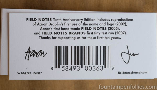 Field Notes Tenth Anniversary Set