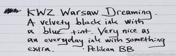 KWZ Warsaw Dreaming writing sample