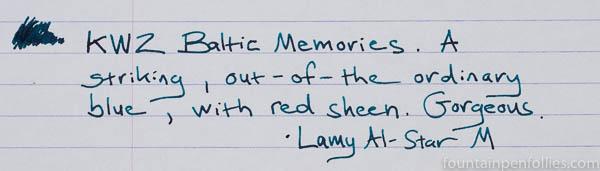 KWZ Baltic Memories writing sample