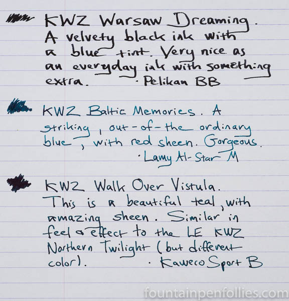 KWZ Warsaw Dreaming, Baltic Memories, Walk Over Vistula writing samples